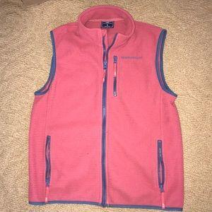 Boys Vineyard Vine Nantucket Red fleece vest M
